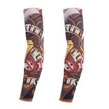 PANDA SUPERSTORE Fake Tattoo Sleeves Set of 2 Outdoor Sports Arm Covers Unisex A
