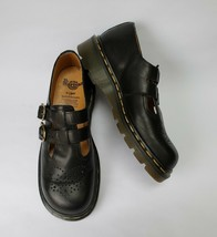 Dr Martens Womens Shoes Mary Janes Black Double Straps Buckles Size US 7 EU 38 - $111.82