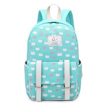 Cute Cat Backpack Casual Canvas Shoulder School Bag Bookbags for Girls Teens - $26.99
