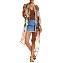 NWT Steve Madden Multi-Color Tropical Crave Triangle Wrap Scarf Fringed 59x132 - $12.99
