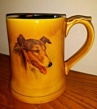 Vintage Wade Dog Coffee Mug Tankard COLLIE SHELTIE English Porcelain Eng... - $29.69