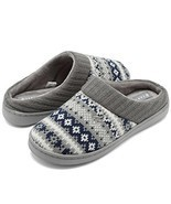 Fanture Women's Memory Foam House Slippers Sweater Knit Embroidered Patt... - €23,41 EUR