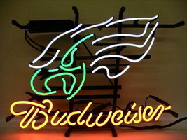 "New Budweiser Philadelphia Eagles NFL Beer Logo Neon Sign 17""x14"" - $108.00"