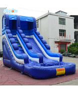 Factory wholesale inflatable slide water slide and pool for kids combo s... - $1,399.00