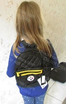 STEELER Womans or Girls Small Backpack AND Zippered Game Day Pouch NEW w... - $18.95