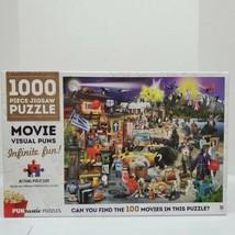 "Hinkler 1000 Piece ""Movie Visual Puns"" Puntastic Jigsaw Puzzle SEALED - $18.00"