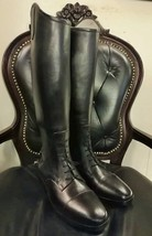 Handmade Black Leather Field Riding Boots English Dress Riding Boots Polo - $392.81