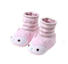 2PCS Cotton Shoes Cute Crib Shoes for Newborn Toddler Shoes Soft Shoes PINK