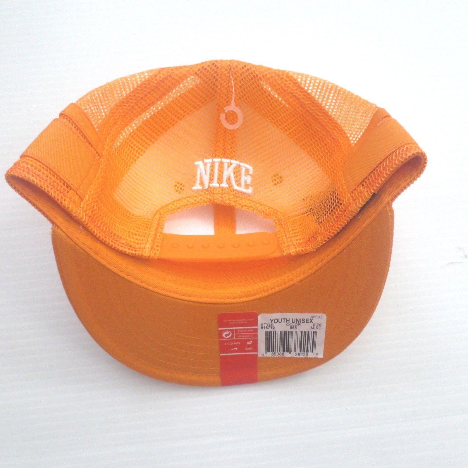Nike Youth Tracker Mesh Snapback Cap Hat - 816712 - Orange 868 - One Size - NWT