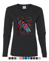 Neon Multicolor Horse Women's Long Sleeve Tee Dean Russo Art Wildlife Na... - $10.57+