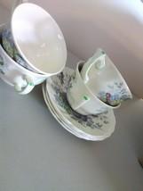 "Royal Doulton English China ""The Kirkwood"" - 4 Cups and 4 Saucers - $11.91"
