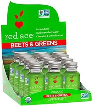 Red Ace 100% Certified Organic Beets & Greens Juice Shots, 2 oz,12 Count - $54.14