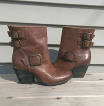 Lucky Brand brown leather heeled boots  - $99.99