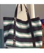 12x17 In Striped Waterproof Tote Bag - $18.00