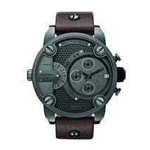 Diesel Little Daddy DZ7258 Gunmetal Brown Leather Men's Watch - $221.85 CAD