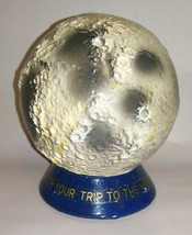 """Vintage 1960's JAPAN Chalkware MOON BANK ~ """"Save Now For Your Trip to Th... - $45.00"""