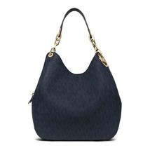 MICHAEL KORS Baltic Blue Fulton Large Shoulder Hobo Tote Bag $398 - BRAN... - $275.81