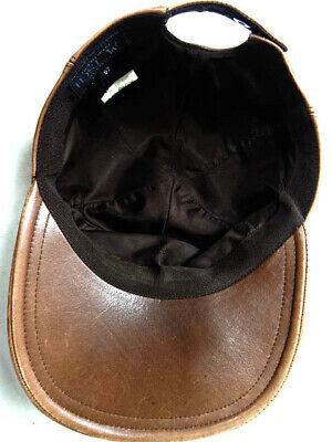Auth Hermes France MOTSCH Motchi leather leather brown cap hat logo 57