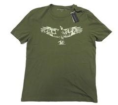 NWT John Varvatos Olive Short Sleeve Graphic Shirt Men's Size Medium 100... - $1.877,50 MXN