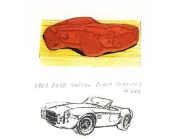 Collector Car Rubber Stamps 1967 Ford Shelby Cobra Roadster #289