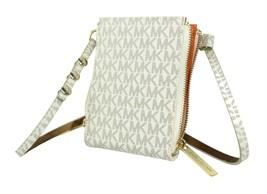 NEW MICHAEL KORS WOMEN'S MK PVC LEATHER PURSE BELT FANNY PACK BAG WHITE 552500
