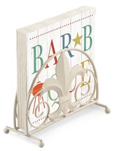 Sommer BBQ Barbque Holz Effekt 3 Ply Papierservietten & Serviettenhalter Set - $20.45