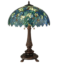 "26""H Nightfall Wisteria Table Lamp - £392.18 GBP"