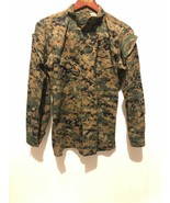 "USMC American Apparel INC. Navy Shirt Jacket Camo ""Sz Small"" Long Sleeve - $31.68"