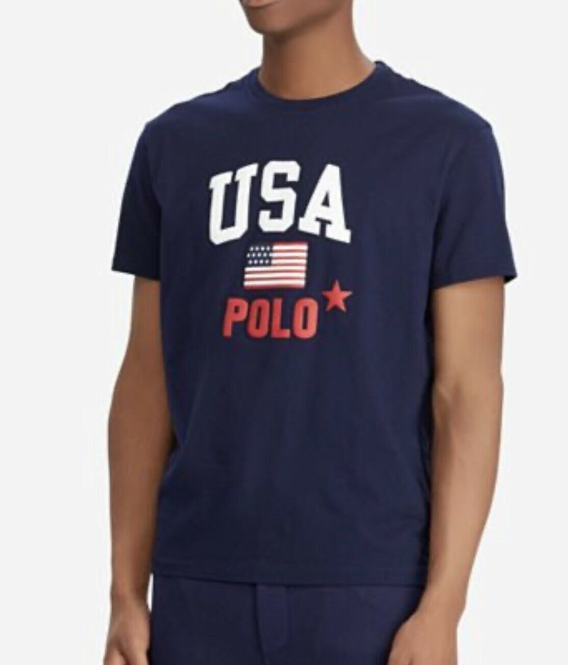 Primary image for Polo Ralph Lauren Mens US American Flag T-shirt Tee top USA 2XLT NWT