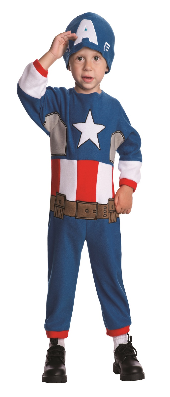 Baby Marvel Classics Avengers Assemble Fleece Toddler Captain America Costume - $18.24