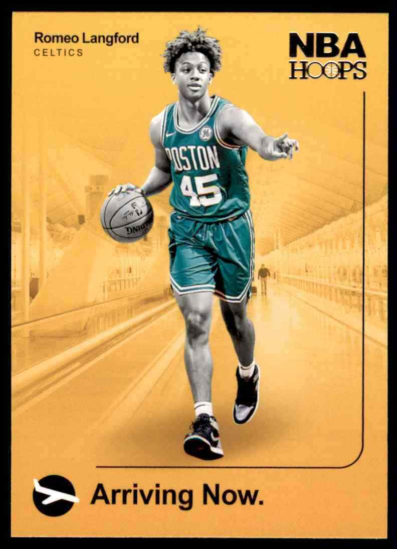 Primary image for 2019-20 Panini NBA Hoops Arriving Now Romeo Langford Rookie #5