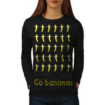 Banana Fruit Funny Food Tee Fruit Funny Women Long Sleeve T-shirt - $14.99