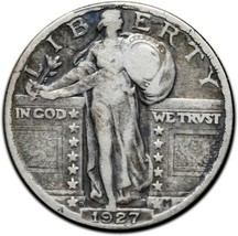 1927D Standing Liberty Silver Quarter Coin Lot A 401