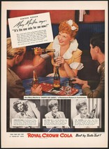 Vintage magazine ad ROYAL CROWN COLA RC from 1943 Mary Martin in Happy Go Lucky - $11.69