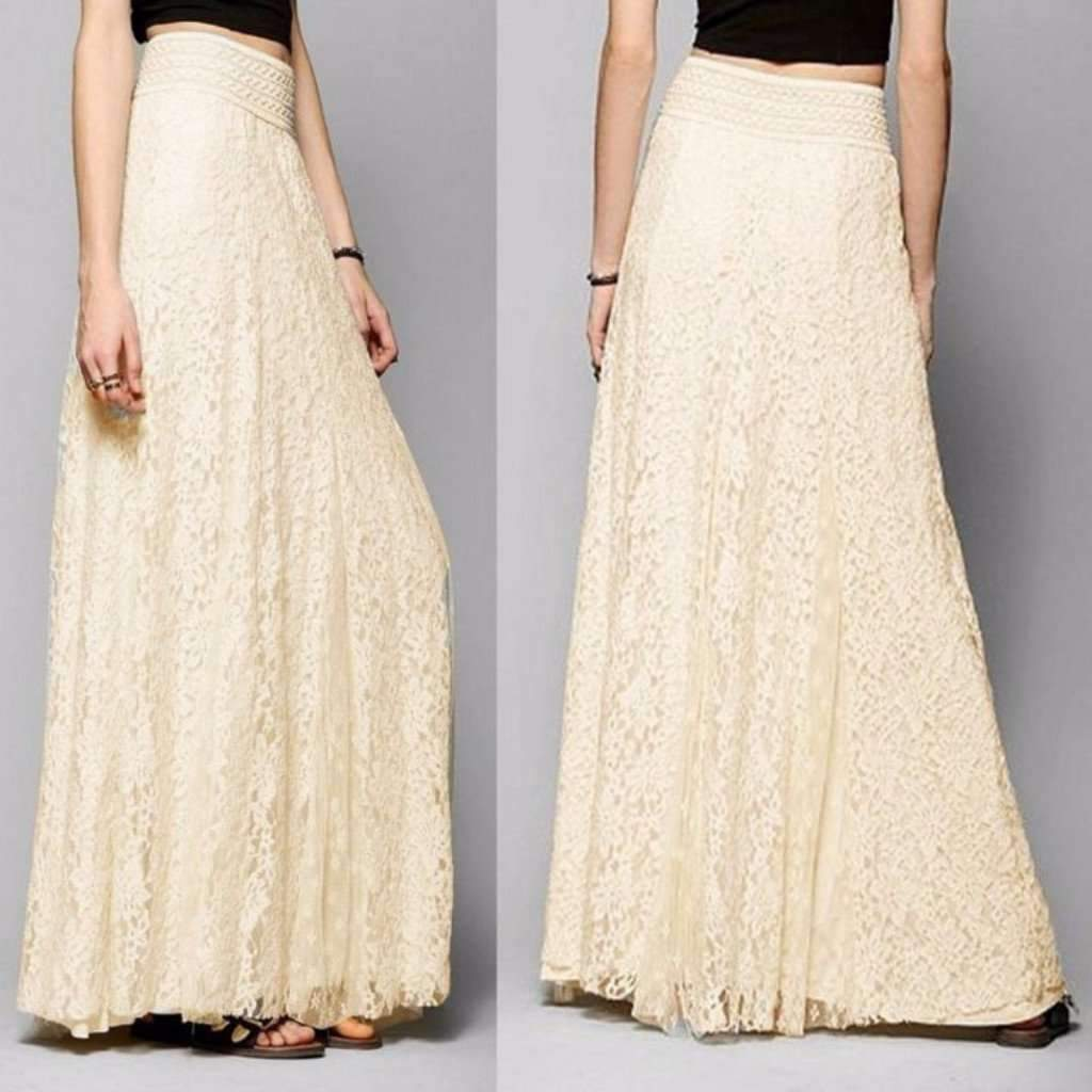Aisy dress for less maxi skirts multilayer floral lace high waist women maxi skirt 1403883913247