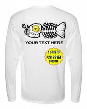 6 Personalized Custom Front & Back Printed Dri Fit Longsleeve Fishing Sun Shirt image 3
