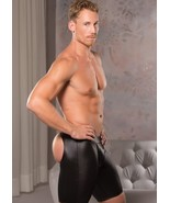 ZEUS WET LOOK OPEN BACK BIKE MENS SHORTS CHAPS S/M- L/XL - $35.99