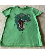 Cat & Jack Boys Green T-Rex Dinosaur Shamrock Glasses Short Sleeve Shirt... - $6.43