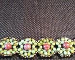 Handmade Mint Green & Pink Bracelet  - $20.00