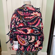 Vera Bradley Essential Large Quilted Backpack Painted Paisley Back To Sc... - $87.00