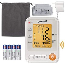 Yuwell Talking Blood Pressure Monitor Upper Arm,22-45cm Cuff,Large Backlight LCD image 1