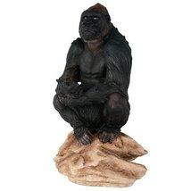 Lowland Gorilla Herbivorous Ape Wildlife Endangered Collectible Figurine... - $31.68