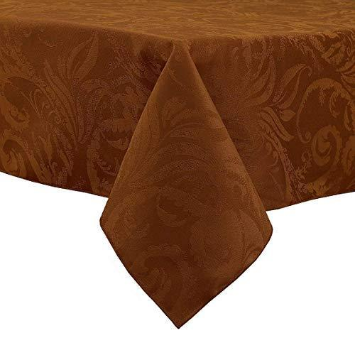 Autumn Scroll Damask Tablecloth In Bronze 60 X 104