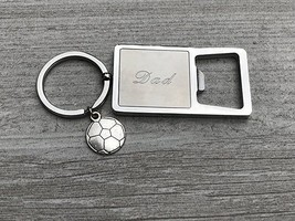 Soccer Dad Stainless Steel Bottle Opener Keychain, Fathers Day, Birthday... - €10,57 EUR