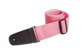 HENRY HELLER 2 inch Vegan poly strap with micro fiber stitched ends PINK - $7.91