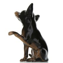 Hagen Renaker Dog Chihuahua Sitting Black and Tan Ceramic Figurine image 6