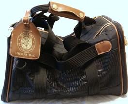 VTG Original Sherpa Bag Pet Carrier Black Travel Bag Airline Dog Cat Animal - $42.07