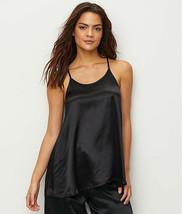 PJ HARLOW BLACK ANNE SATIN SLEEP CAMI TOP, Size XSmall NWOT - $26.73