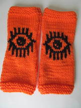 Evil Eye Gloves March for Our Lives Mitts - Orange and Black - #EnoughIs... - $469,98 MXN