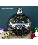 POTTERY BARN BLACK MERCURY GLASS VASE –NIB– PERFECT FOR YEAR-ROUND ELEGA... - $149.95